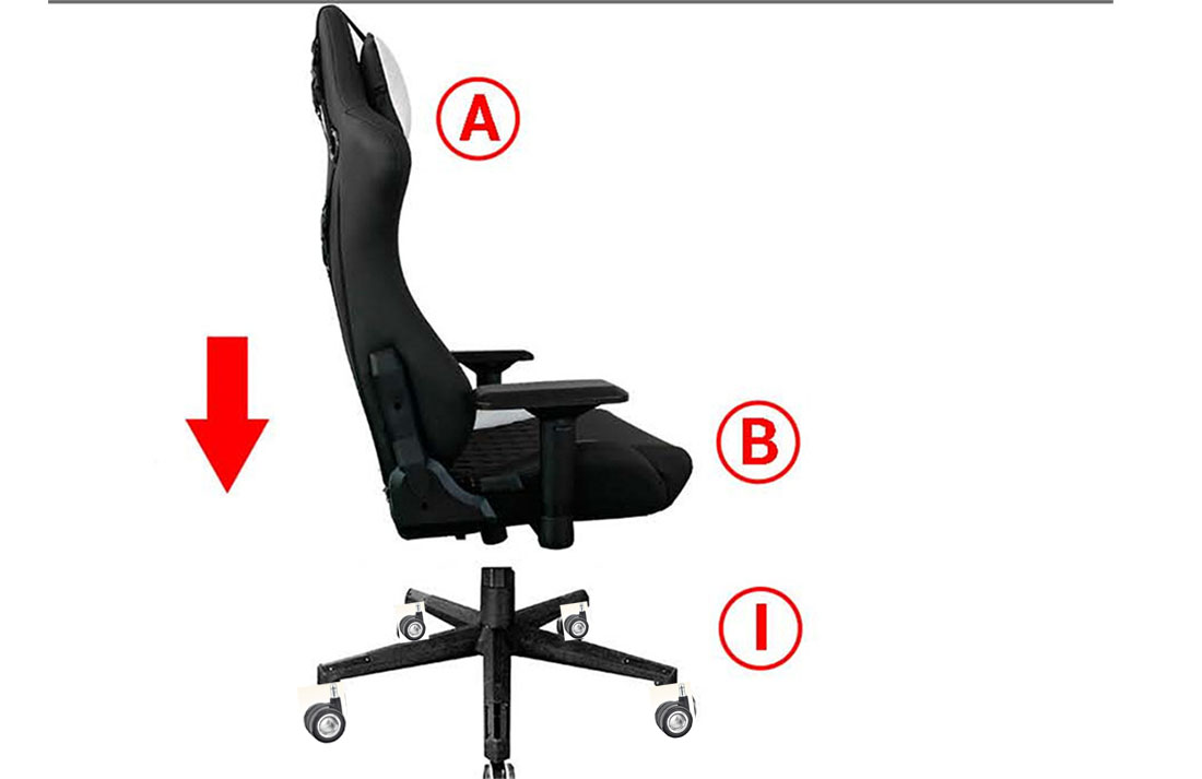 office gaming chair casters chair replacement parts factory in China