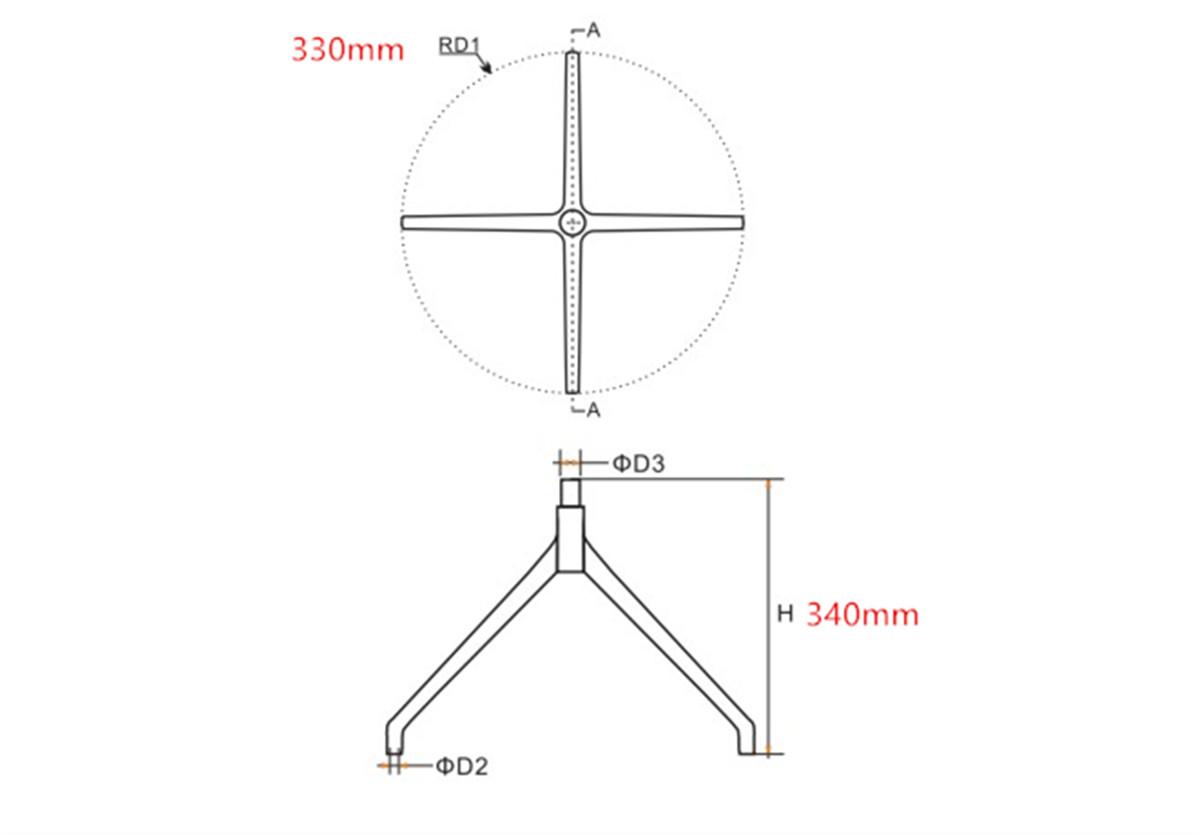 7-lounge-chair-wheel-base-replacement-parts-manufacturer-in-China-dimension