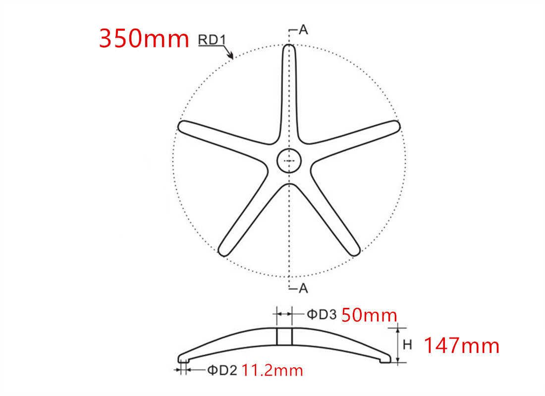 where to custom high quality office chair wheel base replacement accessories dimension