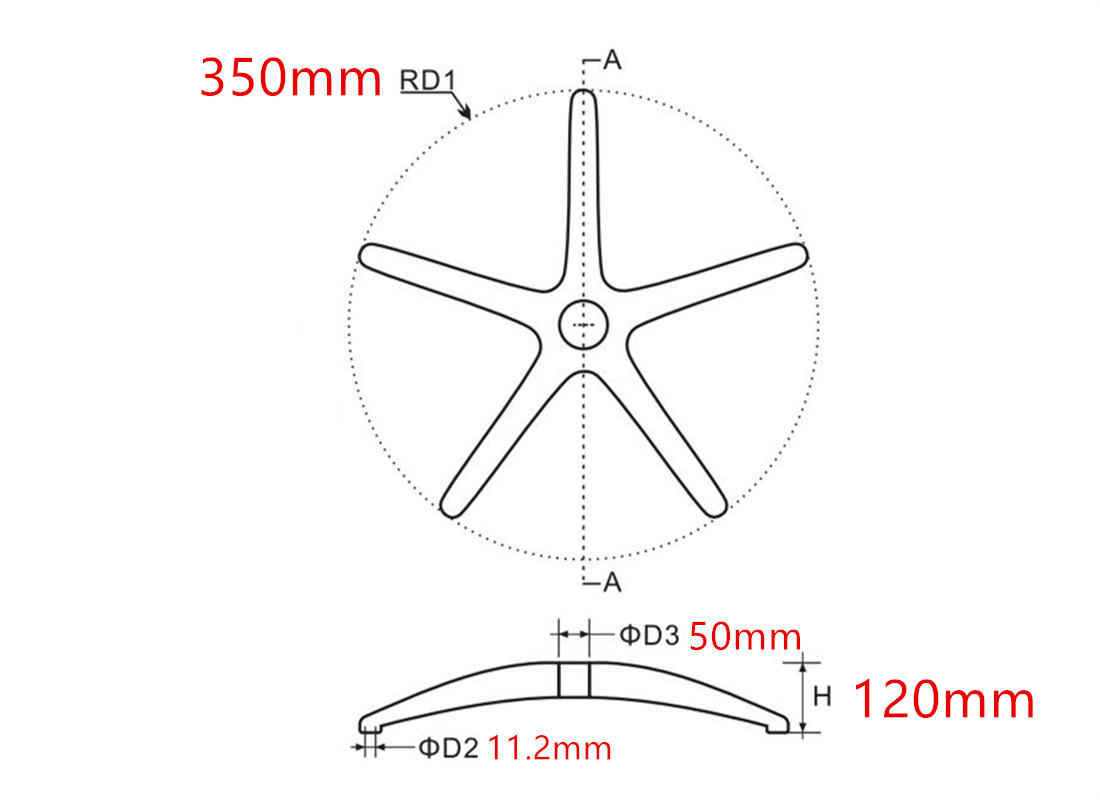 where to custom high quality office computer chair wheel base accessories dimension