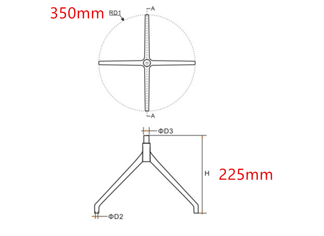revolving chair base parts suppliers in China
