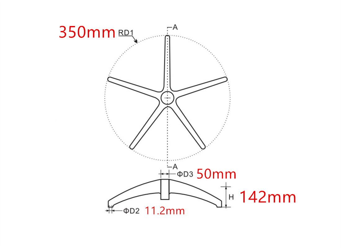 where to custom high quality office revolving chair wheel base accessories dimension