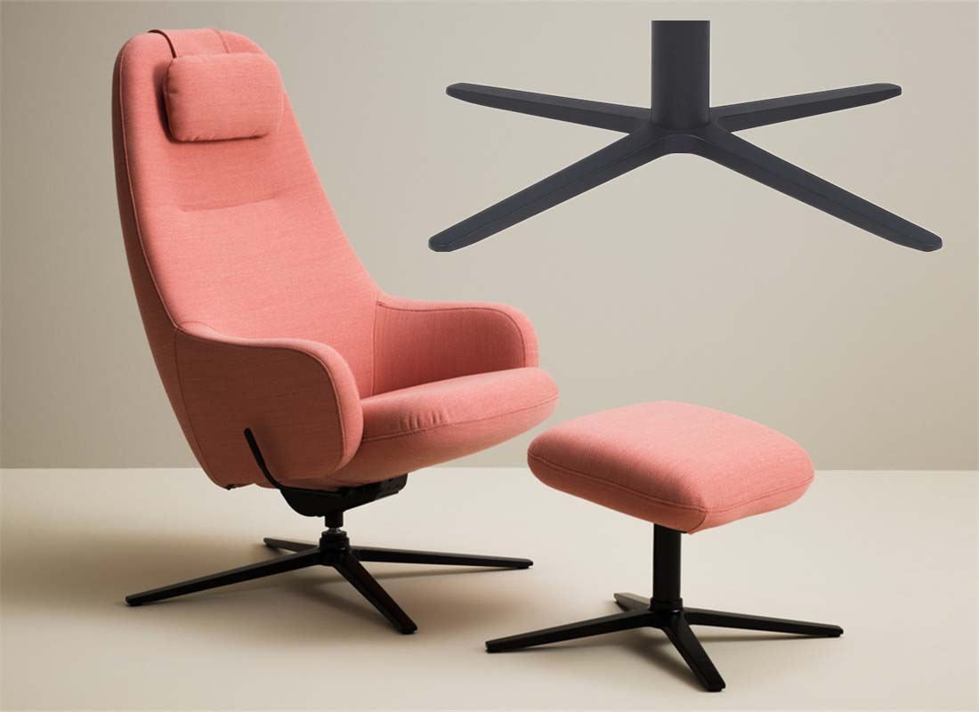 lounge 4 star base chair parts manufacturer in China