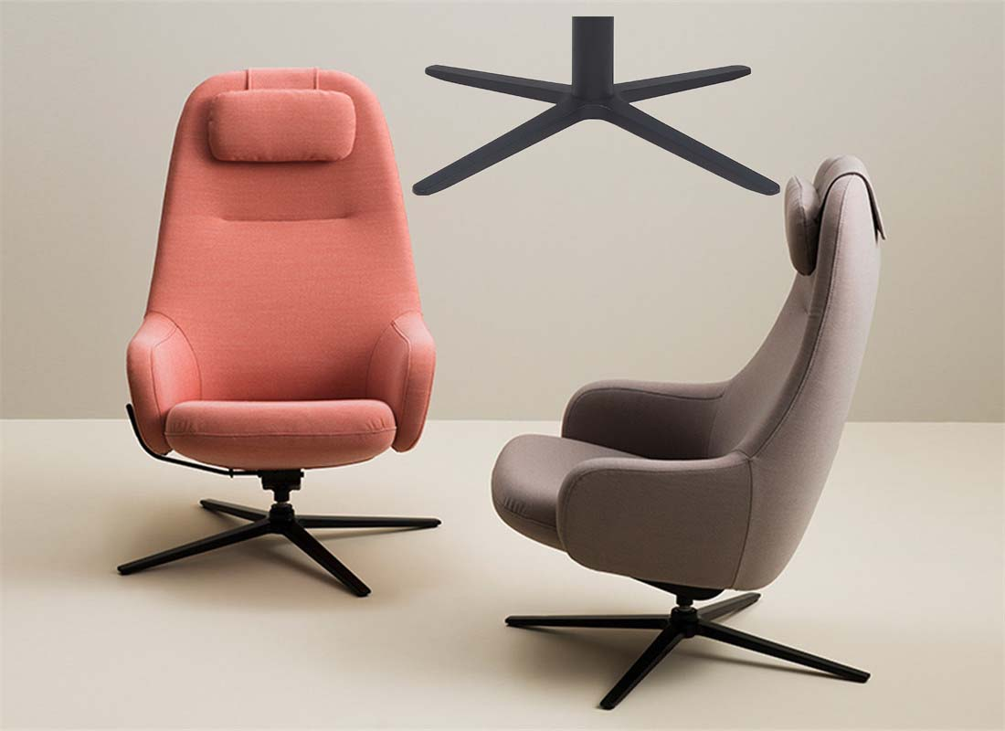 lounge 4 star base chair replacement parts factory in China