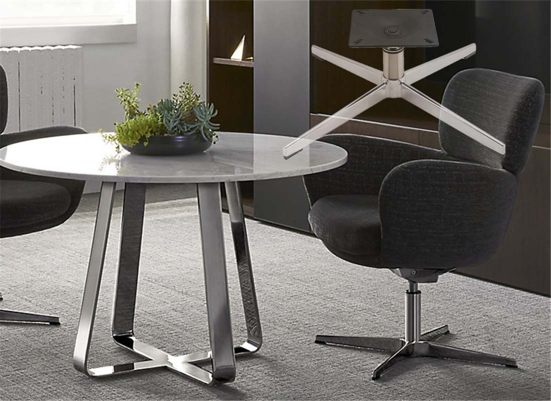 where to purchase lounge metal chair base components