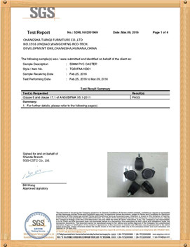 chair components certificate for tincci
