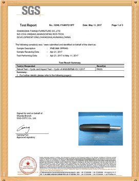 chair fittings certificate for tincci