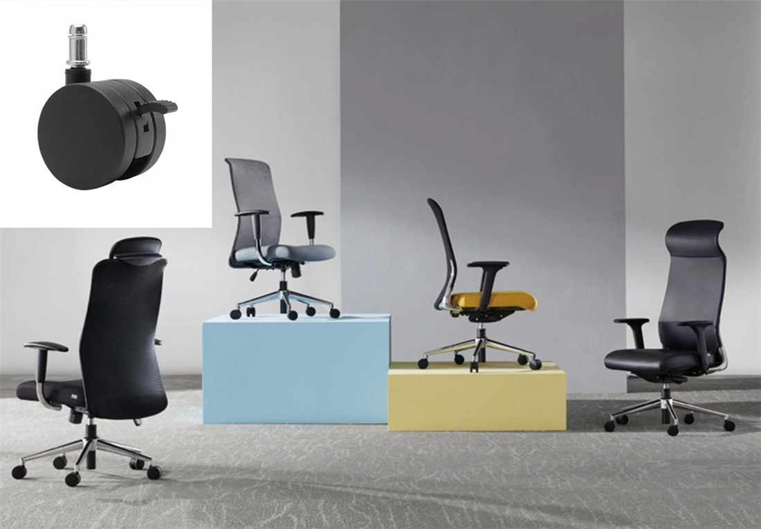 office chair lockable wheels revolving parts manufacturer in China
