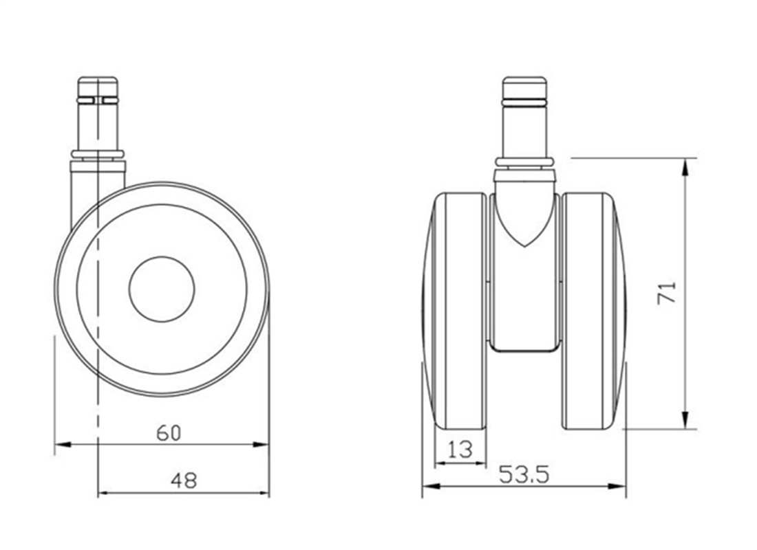 7-office-2-36-inch-pneumatic-caster-wheels-parts-manufacturer-in-China-dimension
