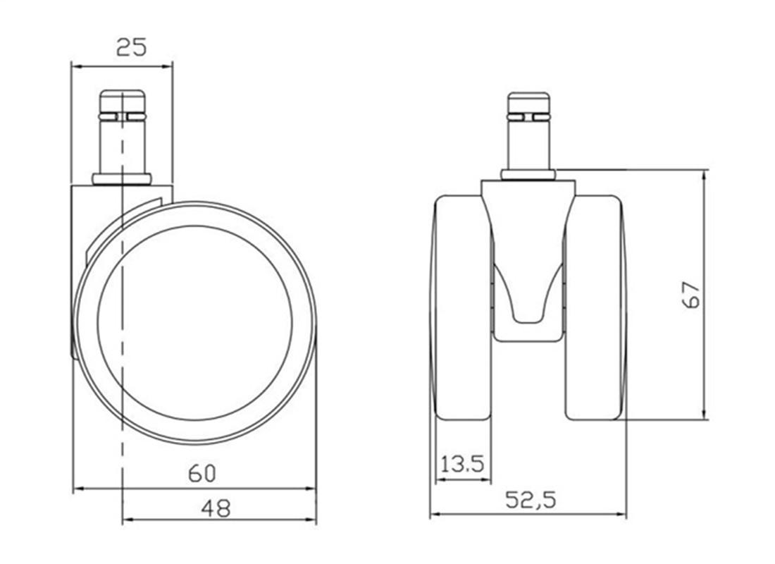 7-office-2-36-inch-pneumatic-caster-wheels-replacement-parts-factory-in-China-dimension