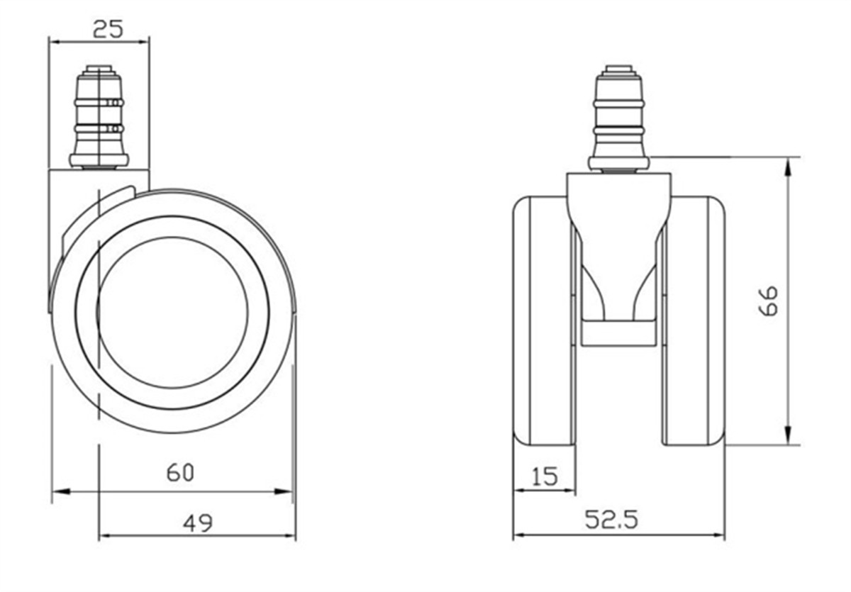 chair castors parts suppliers in China