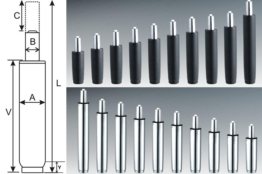 chair gas lift measurements