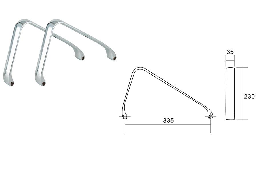 chair armrest measurements