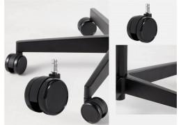Soft office chair castors for hardwood floors and vinyl floors and  vinyl floors