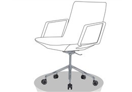 What type of chair bases are best for branded office chairs?