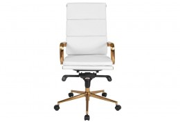 What type of casters are best for white and gold office chair?